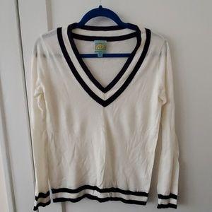 C&C California wool cashmere tennis sweater top XS